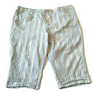 Venezia capri pants 28 purple grey stripe crop 3x